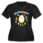 Accountant Women's Plus Size V-Neck Dark T-Shirt