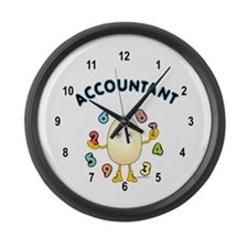Accountant Large Wall Clock