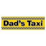 Dad's Taxi Funny Parent Stickers (Bumper)