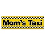 Mom's Taxi Funny Parenting Bumper Sticker