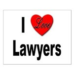 I Love Lawyers Small Poster