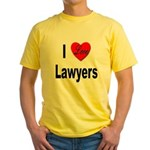 I Love Lawyers Yellow T-Shirt