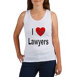I Love Lawyers Women's Tank Top