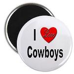 I Love Cowboys Magnet