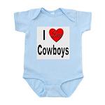 I Love Cowboys Infant Creeper