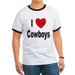 I Love Cowboys (Front) Ringer T