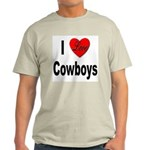 I Love Cowboys Ash Grey T-Shirt