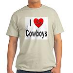 I Love Cowboys (Front) Ash Grey T-Shirt