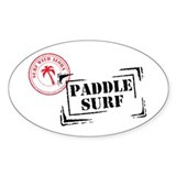 Surf with Aloha Stamp Oval Decal