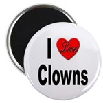 I Love Clowns Magnet