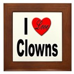 I Love Clowns Framed Tile