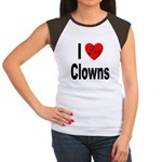 I Love Clowns (Front) Women's Cap Sleeve T-Shirt