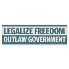 Legalize Freedom Bumper Sticker (50 pk)
