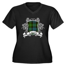 Lamont Tartan Shield Women's Plus Size V-Neck Dark