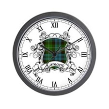 Lamont Tartan Shield Wall Clock