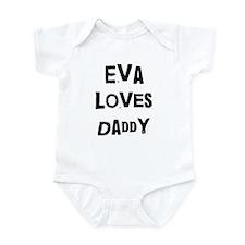 Eva loves daddy Infant Bodysuit