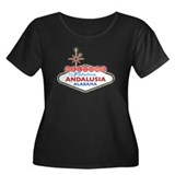 Fabulous Andalusia Women's Plus Size Scoop Neck Da