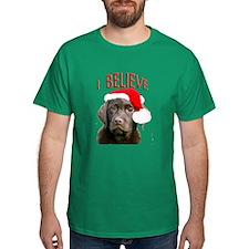 Chocolate Lab Christmas Puppy T-Shirt
