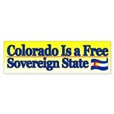 Colorado is Sovereign Bumper Bumper Sticker