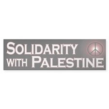 Solidarity with Palestine Bumper Bumper Sticker