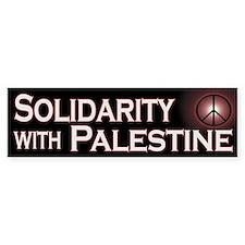 Solidarity with Palestine Bumper Bumper Sticker