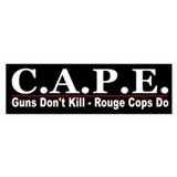 CAPE -Stop Rogue Cops Bumper Sticker (50 pk)