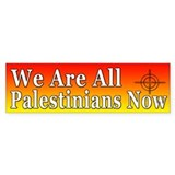 Support the Palestinians Bumper Car Sticker