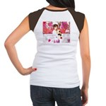 Open Your Heart to a Chained Women's Cap Sleeve T-
