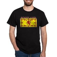 Scotland Scottish Flag Black T-Shirt