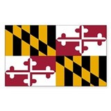 Maryland State Flag Rectangle Decal
