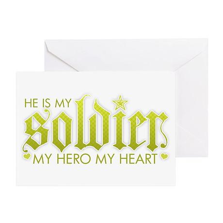 My Solder My Hero My Heart Greeting Card