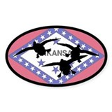Arkansas Ducks Oval Decal