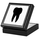 black tooth icon dentist Keepsake Box