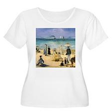 Manet, Beach at Boulogne T-Shirt