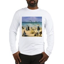 Manet, Beach at Boulogne Long Sleeve T-Shirt