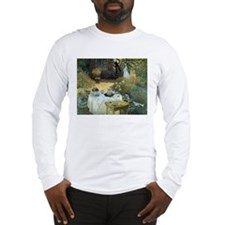 The Luncheon by Claude Monet Long Sleeve T-Shirt