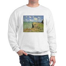 Claude Monet, Cliff Walk at Pourville Sweatshirt