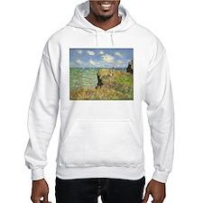Claude Monet, Cliff Walk at Pourville Hoodie