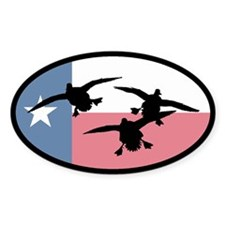 Texas Ducks Oval Sticker (10 pk)