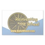 Reinventing the Wheel Rectangle Decal