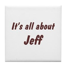 Personalized Jeff Tile Coaster