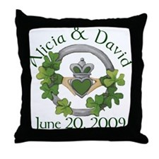 Alicia & David Throw Pillow
