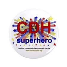 "CDH Superhero Stars Logo for Boys 3.5"" Button"