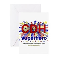 CDH Superhero Stars Logo for Boys Greeting Cards (