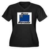 Reno Nevada Women's Plus Size V-Neck Dark T-Shirt