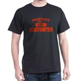 Property of a Firefighter Black T-Shirt
