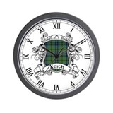 Keith Tartan Shield Wall Clock