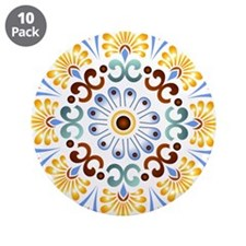 "Golden Mandala 3.5"" Button (10 pack)"