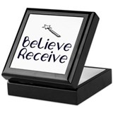 Believe Receive Keepsake Box