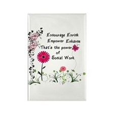 Power of Social Work Rectangle Magnet